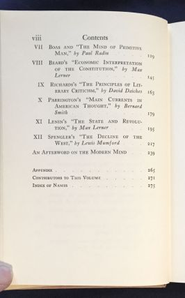 BOOKS THAT CHANGED OUR MINDS:; A Symposium / With an Introduction and Afterword by Malcolm Cowley