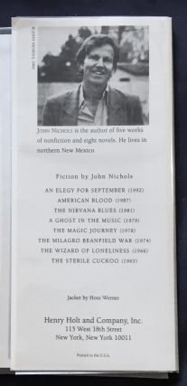 AN ELEGY FOR SEPTEMBER; A Novel by John Nichols