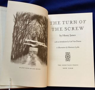 THE TURN OF THE SCREW; by Henry James / with an Introduction by Carl Van Doren & Illustrations by...