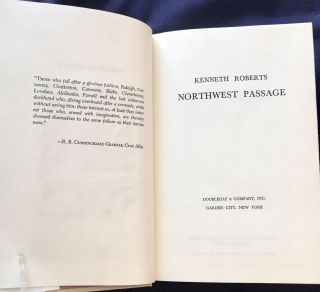 NORTHWEST PASSAGE; A Chronicle of Arundel and the Burgoyne Invasion / By Kenneth Roberts