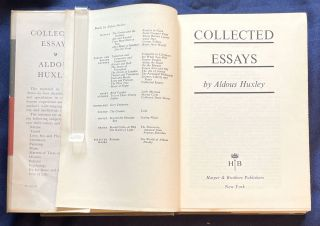 COLLECTED ESSAYS; by Aldous Huxley