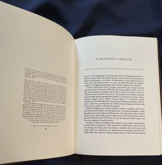 FAUST; A Tragedy: In a Modern Translation by Alice Raphael / The Original Drama Illustrated with Lithographs by Eugene Delacroix / The 100 Greatest Books Ever Written / Collector's Edition / Bound in Genuine Leather