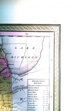 A NEW MAP OF ILLINOIS; with its proposed Canals, Roads & Distances